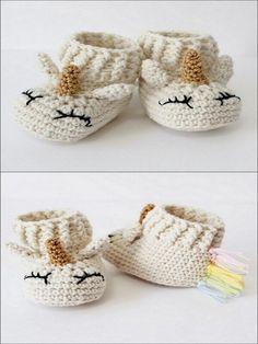 botas de bebe unicornio