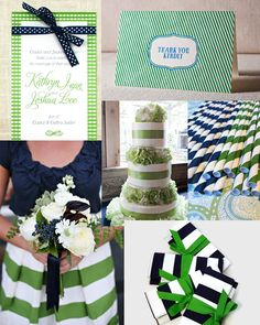 Navy and kelly. I LOVE Kelly green and navy blue! deff colors for my wedding!  #CupcakeDreamWedding