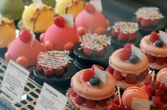 Tasty treats by Paris-based patissier, Sadaharu Aoki. This webpage is well worth a look for some of his other beautifully presented and highly colourful bites.