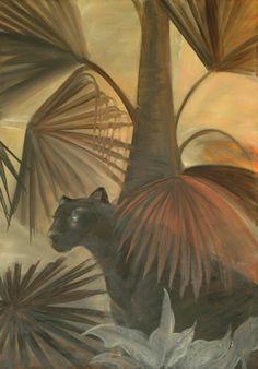 Brassai Gabi: Black panther oil on canvas