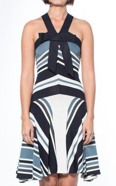 Lanvin Striped Black & White Halter Dress White Halter Dress, Lanvin, Luxury Consignment, Athletic Tank Tops, Black And White, Collection, Dresses, Women, Fashion