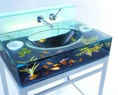 washstand as aquarium
