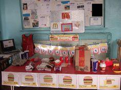 Fast Food Restaurant role-play area classroom display photo - SparkleBox