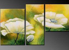 Handmade Modern Wall Art Flower Oil Painting On Canvas . Oil Painting Flowers, Oil Painting Abstract, Painting Frames, Oil Paintings, Painting Art, 3 Piece Wall Art, Canvas Wall Art, Wall Art Pictures, Modern Wall Art