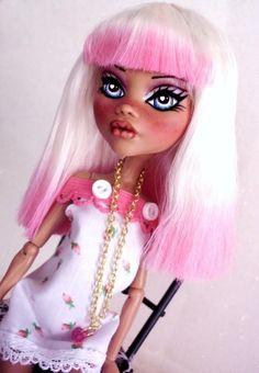 ROSEBUD ~ OoAk Custom Monster High CLAWDEEN Dressed Repaint By Alison