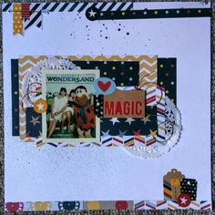 Love all the layering on this layout by Nerd Girl Kim. My Scrapbook, Scrapbook Layouts, Scrapbooking, Page Layout, How To Introduce Yourself, Layering, Wonderland, Nerd, Paper Crafts