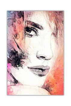 CANVAS IT UP Wasser Farbige Nachdruck Abstrakte Kunst Frau Gesicht Auf  Leinwand,   Leute Menschen