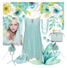 """Spotlight On Pastels"" by christined1960 ❤ liked on Polyvore featuring Johnny Was, Jil Sander, Jay Import, Madison Parker, Kate Spade and Fendi"
