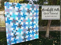Here is a little update on my Moonlight Path quilt tutorial!   I have always loved this pattern – it looks so much more difficult than it really is! I just got it back from the qu…