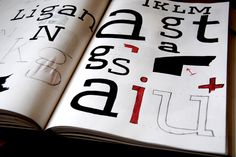 Ligan Sketches - Typeface by Jan-Christian Bruun