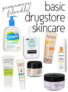 Pregnancy Safe Drugstore Skincare Products via @15MinBeauty