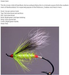 Steelhead Flies Green Butt Skunk #4 Salmon