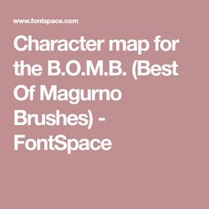 Character Map  Fonts    Fonts Font  And Fonts