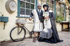 A Gorgeous Sotho Bride In A Stunning Xhosa Cape Dress - South African Wedding Bl. - A Gorgeous Sotho Bride In A Stunning Xhosa Cape Dress – South African Wedding Bl … - African Fashion Skirts, South African Fashion, African Fashion Designers, Africa Fashion, African Dress, Wedding Dresses South Africa, African Wedding Theme, South African Weddings, Xhosa Attire