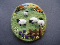 Hand Made Needle Felted Brooch - ' In Thistle Field ' by Tracey Dunn | eBay