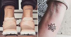Tattoos sind super beliebt. Auch die kleinen.    In der letzten Zeit haben sich Tattoos in der Modeszene zu echten Statements entwickelt. Mit Berühmtheiten wie Angelina Jolie, Rihanna oder Cara Delevingne die alle ihre persönlichen Tattoos