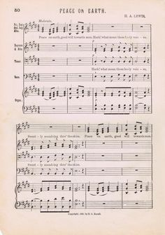 Free Printable Antique Christmas Music Pages from KnickofTime.net  #knickoftime