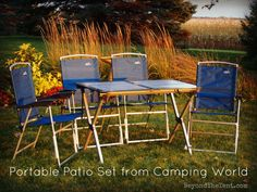 Portable Patio Set Comes In Handy - Review