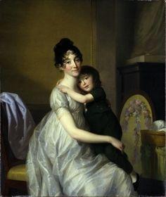 Johann Friedrich August Tischbein, Anne Pauline Dufour-Feronce mit ihrem Sohn Jean Marc Albert, 1802, Kassel, Museumslandschaft Hessen Kassel,
