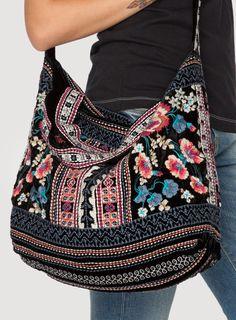 Izzy Velvet Tote Bag Black
