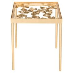 Accent Table Antique Gold