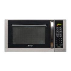 Haier 0.9 cu ft 900-Watt Countertop Microwave (Silver)