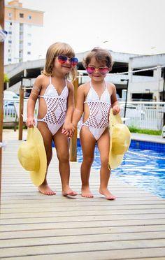 Make To Order. Crochet Hobo Monokini, bathing Swimsuit for baby girl 3- 5 years, new, white.