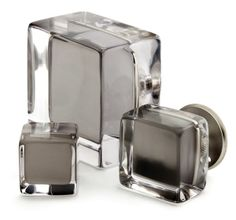 Superbe Square Glass Furniture Knobs