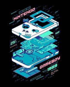 cyberpunk retrowave Nintendo Gameboy - How An Adopted Person Can Find Their Retro Videos, Retro Video Games, Video Game Art, Retro Games, Nintendo, Game Boy, Crea Design, 8bit Art, Vaporwave Art