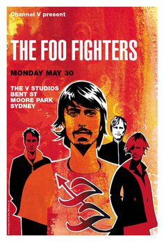 - Foo Fighters Concert Poster Artwork - #music #Posterart #concert #artwork #foofighters http://www.pinterest.com/TheHitman14/music-poster-art-%2B/