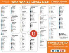 Mapa de Social Media 2016. Infografía en español. #CommunityManager