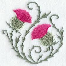 thistle embroidery - Google Search