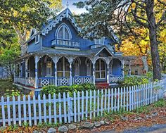 Victorian Home. Marthas Vineyard. Love everything about this right down to the color!