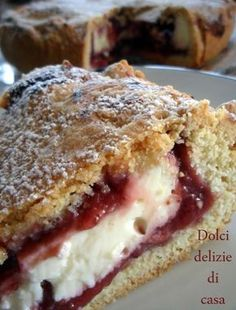 Pie-cheesecake | Risultati della ricerca | Dolci Delizie di Casa Breakfast Cake, Great Desserts, Italian Dishes, Cheesecakes, Cake Cookies, I Foods, Good Food, Food And Drink, Sweets