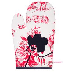 Gant Jouy Rouge  Red Jouy Oven Glove #lacococotteparis
