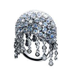 tentacle tentacle Tentacle ring tentacle Ring RZB-N1024-WGK18 White Gold / Diamond 0.86ct / Rainbow Moonstone ¥ 1,512,000 (tax included)