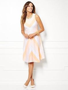 Shop Eva Mendes Collection - Edie Striped Dress. Find your perfect size online at the best price at New York & Company.