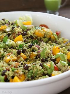 Avocado Mango Lime Quinoa Bowl from Kim at Liv Life Too