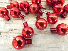 Set of 23 Miniature Mid Century Glass Feather Tree Ornaments