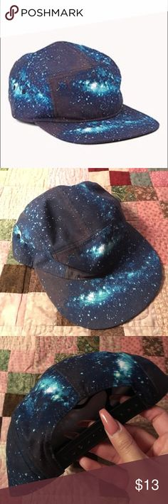 galaxy 5 panel hat 🌌 dope hat only worn once for a few hours. perfect for festivals. In perfect condition. NO TRADES always open to offers will go lower on pae pall. listed brand for views purchased at macys HUF Accessories Hats