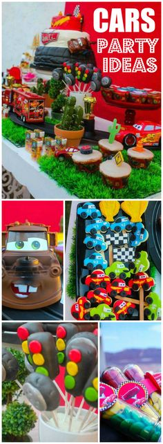 How cool is this Disney's Cars birthday party? See more party ideas at CatchMyP… – Car Collection Race Car Birthday, Race Car Party, 3rd Birthday, Birthday Ideas, Disney Cars Party, Disney Cars Birthday, Car Themed Parties, Cars Birthday Parties, Lightning Mcqueen Party