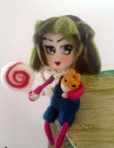 art doll anime in lana cardata di nearteneparte di nearteneparte