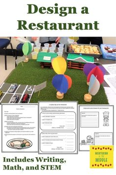 The best of project-based learning using math, writing, and design elements! Students love this project where they create their own restaurant, complete with history, menu, and design. Optional pages include computing the difference between wholesale and retail costs, proportions, and tax and tips. #PBL #projectbasedlearning