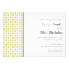 Gather guests with amazing birthday invitations from Zazzle! Birthday party invitations in a range of themes! 35th Birthday, 30th Birthday Parties, Birthday Woman, Birthday Party Invitations, Birthday Party Themes, 30th Birthday Ideas For Women, Popular Birthdays, You Are Invited, Dots