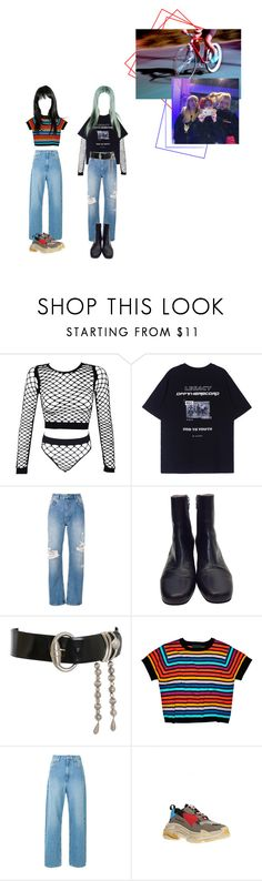 """Untitled #54"" by beyzalwaysperf ❤ liked on Polyvore featuring Anine Bing, Dries Van Noten, Versace, Cynthia Rowley and Balenciaga"
