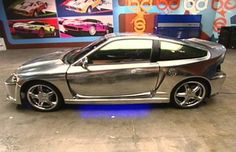 Honda CRX - Glammed out with silver paint!