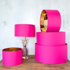 Hot Pink And Gold Shades Hot Pink And Gold Shades Hot Pink And Gold Shades - Lamp Shades - Lighting Accessories - Lighting<br> Hot Pink Bedrooms, Pink Master Bedroom, Pink Bedroom Design, Pink Bedroom Decor, Pink Bedroom For Girls, Gold Bedroom, Bedroom Neutral, Bedroom Ideas, Trendy Bedroom