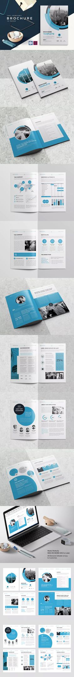 CO Brochure Template InDesign INDD A4