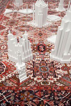 carpet pattern extrusions by babak golkar