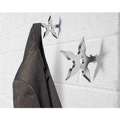 Ninja Star Coat Hangers $8.99